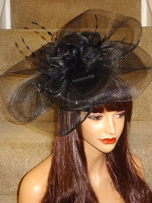 Large Exclusive Crin Fascinator Hat on band 499017