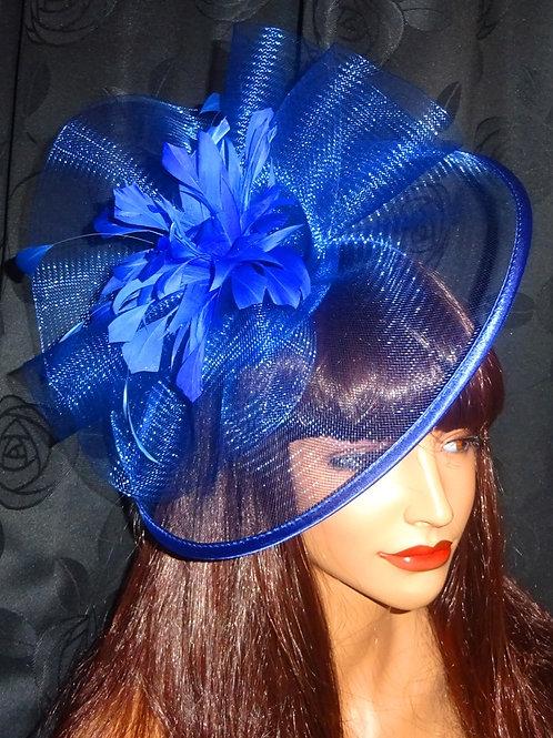 Cobalt Blue Fascinator Hat on band 262677