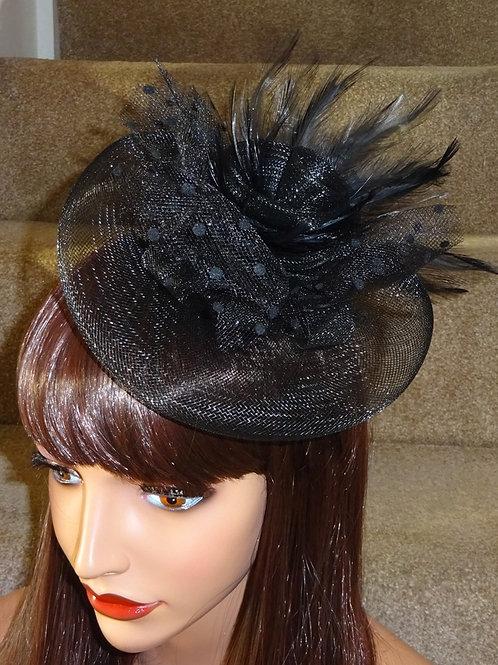 Black Crin & Feather Fascinator 457457