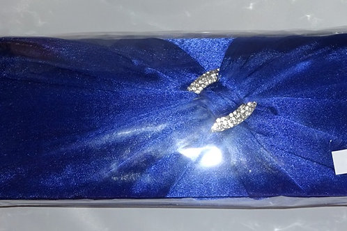 Cobaly Blue Clutch Bag with detachable strap