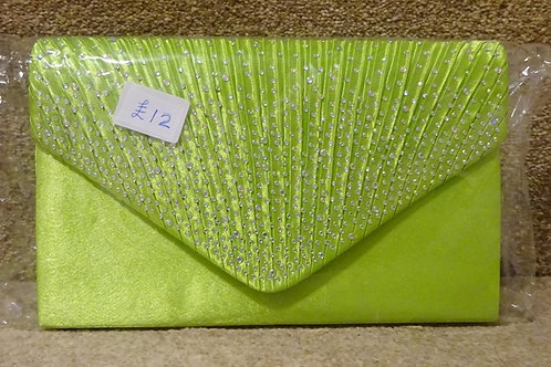 Lime Green Bag with sparkle & chain 745789
