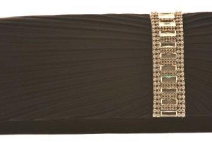 Black Satin & Rhinestone Trimmed Bag 398889
