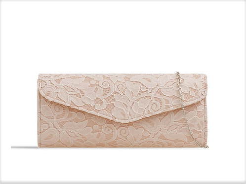 Very pale Peach Lace Clutch Bag 285699