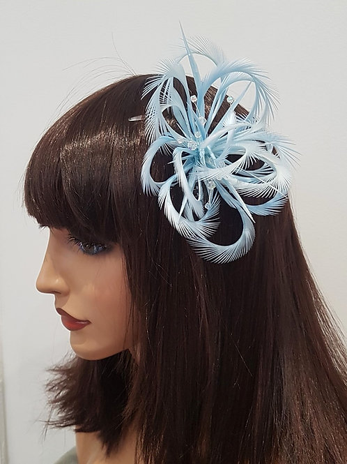 Baby Blue Looped Fascinator Comb 76989