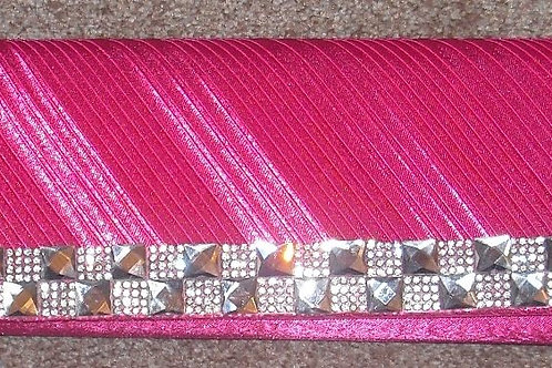Bubblegum Hot Pink Satin & Jewelled Bag