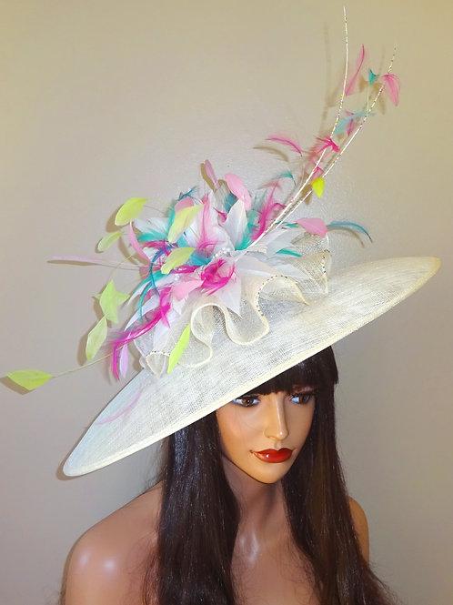 Fabulous Multi coloured Large Hat on band 1110000