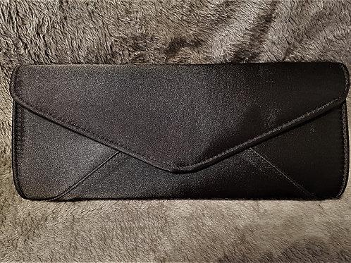 Plain Black satin Bag with strap 129935