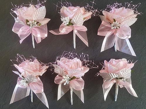 Pale Pink Corsage Buttonholes (£8.99 each)