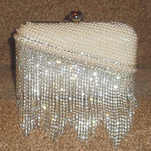 Pearl Rhinestone Clutch Bag