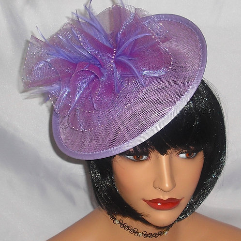 Sinamay Saucer Hat finished with a sparkle on band