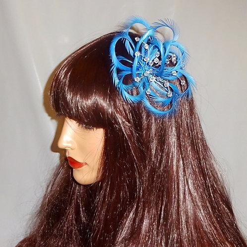Blue Looped Fascinator comb 191846
