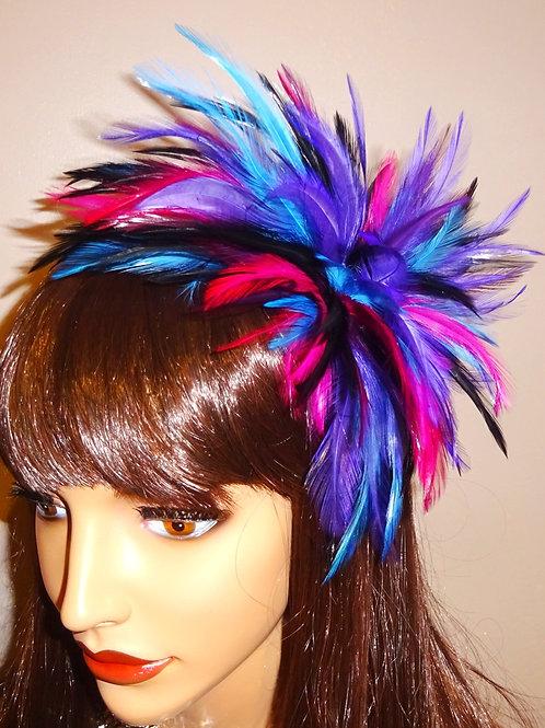 Multi Coloured Fascinator comb 796589