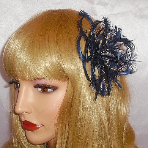 Navy / Dark Blue Looped Fascinator Comb