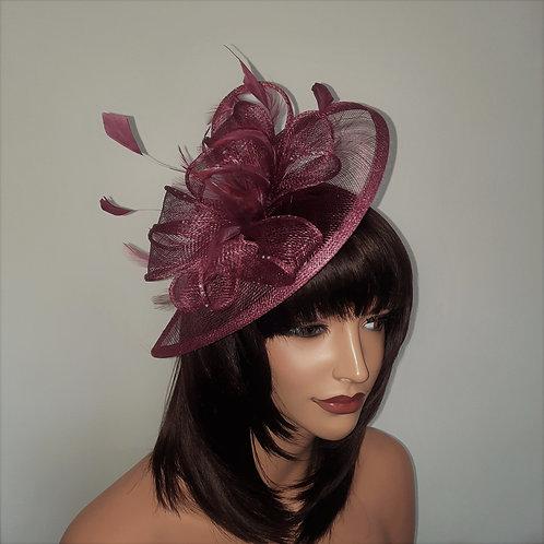 Raspberry Pink Teardrop fascinator Hat on a band 300721