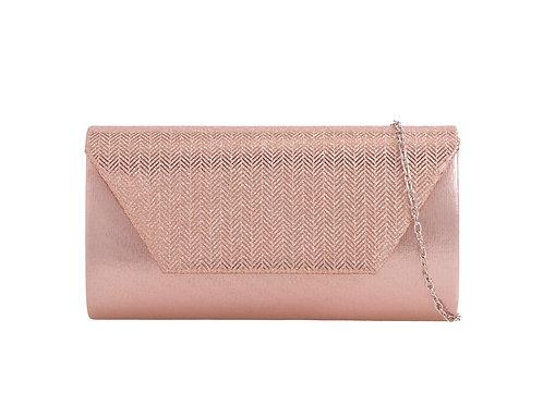 Rose Gold Metallic clutch Bag 778958
