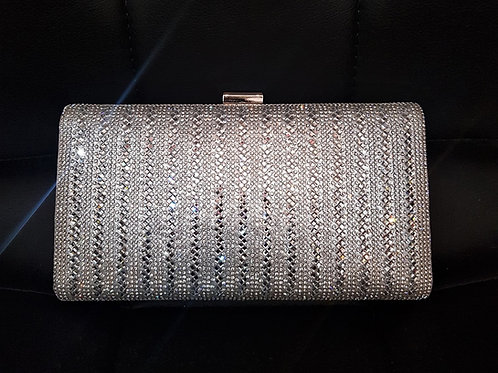 Silver hard cased clutch Bag with strap 4477109