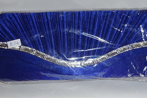 Cobalt Blue Clutch Bag with diamante trim detachable strap 898598