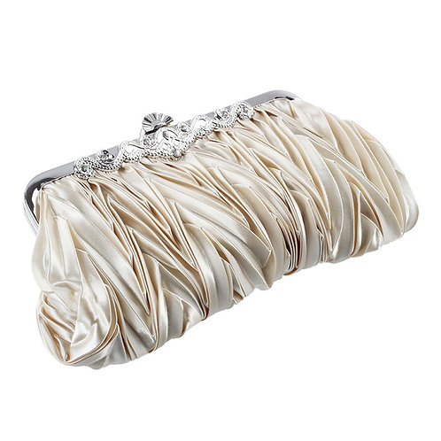 Champagne Clutch Bag with detachable strap