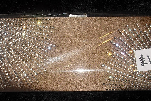 Beige / Nude Diamante Clutch Bag 23432