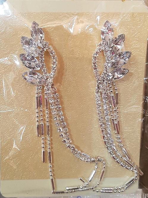 Long Rhinestone Earrings for pierced ears 657665