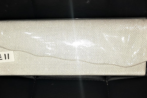 White sparkly clutch Bag with strap which sparkles different colours 080621