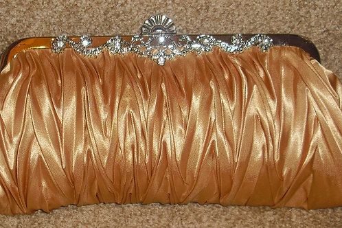 Gold Satin Clutch Bag 281639