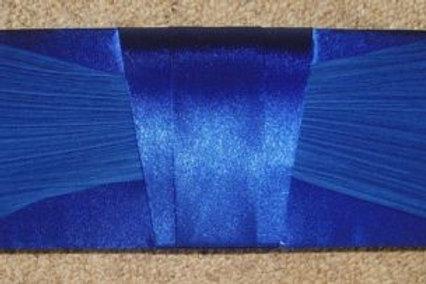 Classy Plain Ruched Cobalt Blue Clutch Bag