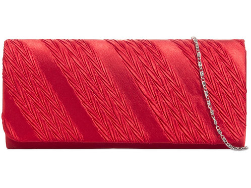 Red Clutch bag with strap 36963
