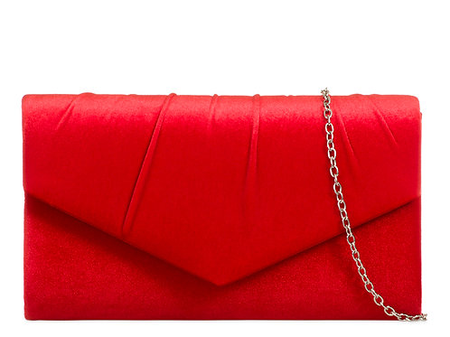 Red Clutch bag with strap 36911