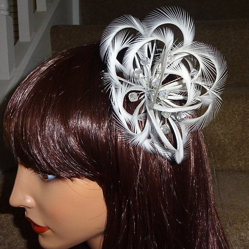 Light Silver Looped Fascinator Comb 5768765