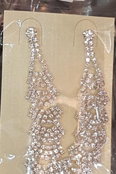 Long Rhinestone Earrings for pierced ears 271998
