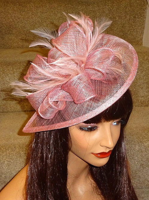 Pink Teardrop Fascinator Hat on band 8899889