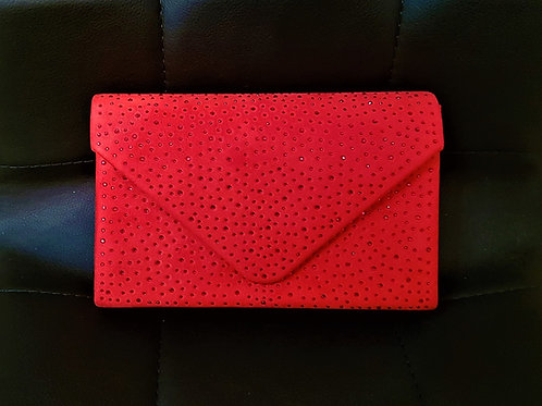 Red bag with strap and beaded detail 810990