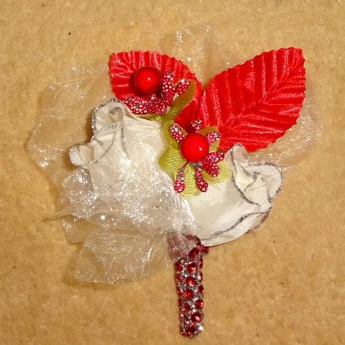 Red Diamante Buttonhole Corsage
