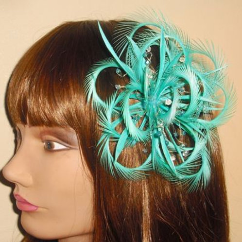 Light Teal Green Turquoise Fascinator