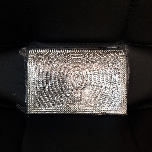Small Silver & Grey Jewelled Bag with strap 739555