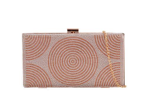 Rose Gold Hard cased clutch Bag 291057
