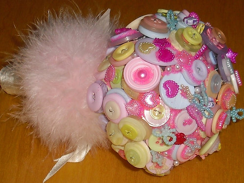 Candyfloss Button Bouquet (contains small parts)