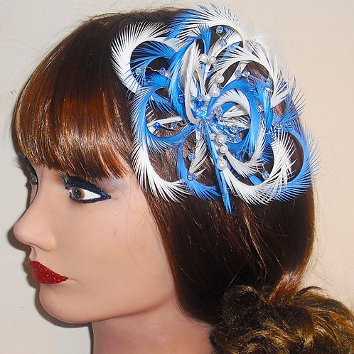 Looped Fascinator Comb with beading