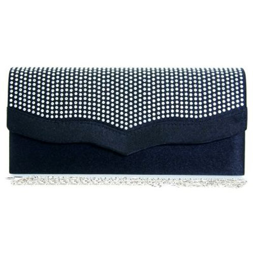 Black  Rhinestone Crystal Clutch Bag 980987