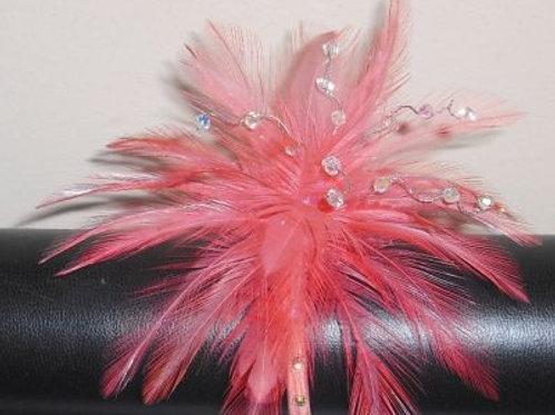 Flamingo Pink Coral Wrist Corsage