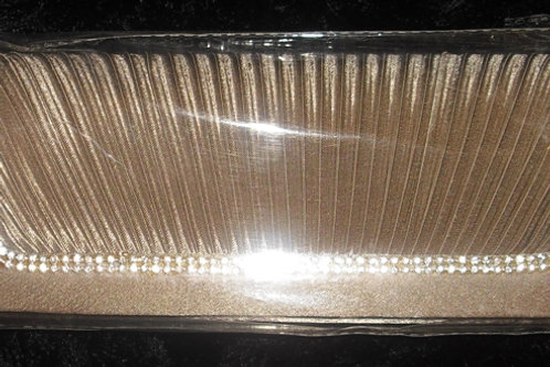 Beige / Nude Diamante Clutch Bag 23488