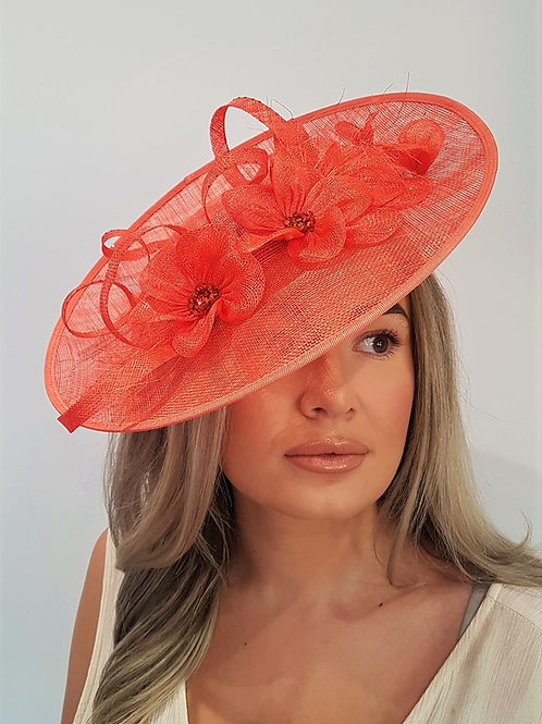 Deep Orange Hat with crystals on a band 4618887