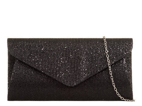 Black sparkly Clutch Bag 79797