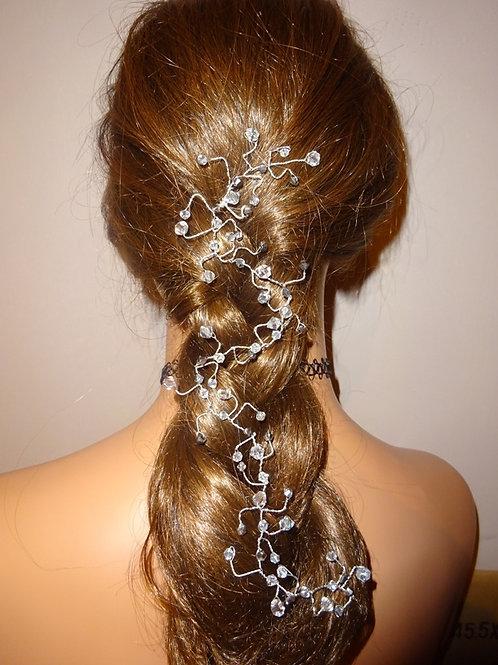 Silver Crystal Hair Vine Fascinator No 3
