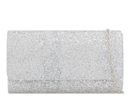 Silver Sparkly Clutch Bag with detachable strap 12345