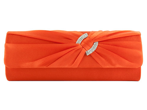 Deep Orange Clutch Bag with strap 808222
