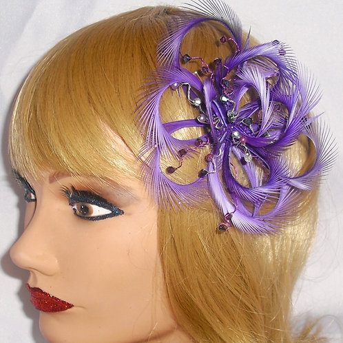 Magenta / Purple Fascinator comb 397853