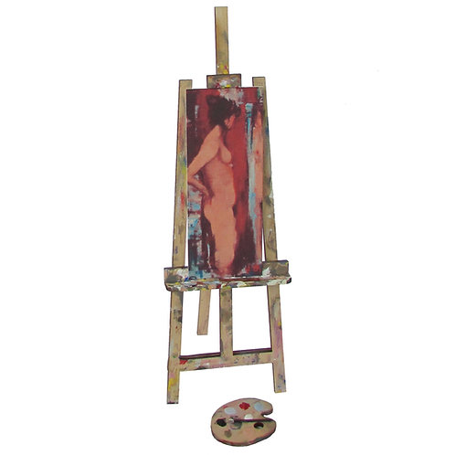 1/12th Scale Artist's Easel & Pallet Kit