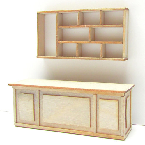 1/48th Scale Shop Counter & Shelves Kit